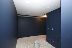 Seaside Interiors: Sherwin Williams Indigo Batik for Media Room. Dark navy that's not nearly black or royal blue