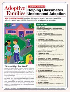 Adoptive Families eBook - Helping Classmates Understand Adoption