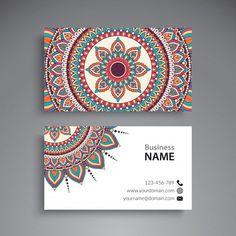 Baby Names Discover Floral Mandala Visiting Card Floral mandala visiting card Premium Vector Doodle Art Drawing, Mandala Drawing, Name Plate Design, Visiting Card Design, Mandala Art Lesson, Madhubani Art, Dot Art Painting, Diy Canvas Art, Business Card Design