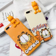 Fashion Cute 3D cartoon Back to Garfield Soft case Cover for iPhone 7 6 6S Plus #UnbrandedGeneric