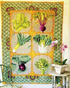 I so long to make this. Kaffe Fassett Vegetable Tapestry rug