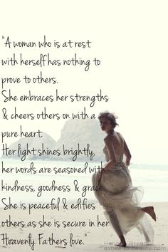 A peaceful woman