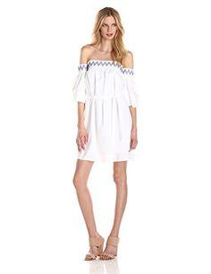 Rebecca Minkoff Women's Cleo Silk Cotton Off-The-Shoulder Dress, Chalk, Medium Rebecca Minkoff http://www.amazon.com/dp/B00QYY2IU6/ref=cm_sw_r_pi_dp_XIJqvb0BQF97M
