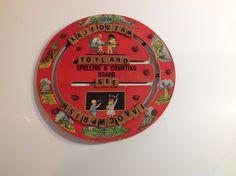 Vintage Spelling and Counting Board Vintage by VintageMetalsReborn
