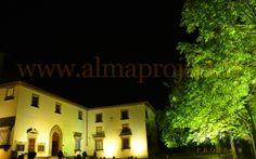 ALMA Project @ Villa Corsini a Mezzomonte - facade disano + tree trees uplights3