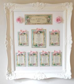 Vintage Wedding Table Plan Ref 130 Design Rose Gold by barbie57, $150.00