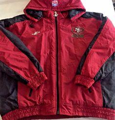 2XL San Francisco 49rs Football Team Warm Jacket Coat NFL ProLine Logo Athletic  #ProLineNFLAuthenticLogoAthletic #Puffer
