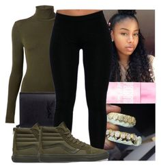 """"""""""" by kodakdej ❤ liked on Polyvore featuring Wolford, Yves Saint Laurent and Vans"""