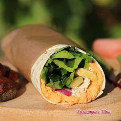 Бурито с кестени и пастети от просо и тофу Tacos, Mexican, Ethnic Recipes, Food, Meal, Essen, Hoods, Meals, Mexicans