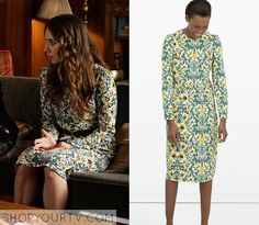 Pretty Little Liars: Season 6 Episode 8 Spencer's Floral Midi Dress Spencer Pll, Spencer Hastings Style, Pretty Little Liars Seasons, Pretty Little Liars Fashion, Pll Outfits, Night Outfits, Fashion Tv, Fashion Looks, Fashion Outfits