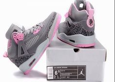 Pink, gray and leopard Jordans