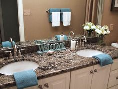 Coral Gold granite vanity top