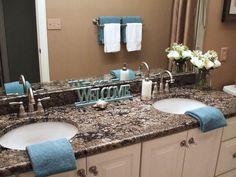 Coral Gold granite vanity top