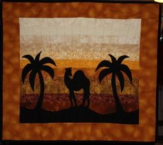 """Applique Camel Quilt by """"brady"""" from the quiltingboard.com"""