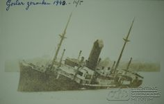 De Goslar tot zinken gebracht door de kapitein. Datum: 10 mei 1940 Locatie: Surinamerivier, Paramaribo, Suriname Vervaardiger: Inv. Nr.: 29-32 Fotoarchief Stichting Surinaams Museum