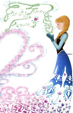 First Time in Forever.Frozen Print sold by Winged Warrior Art. Shop more products from Winged Warrior Art on Storenvy, the home of independent small businesses all over the world. Deco Disney, Disney Princess Art, Disney Nerd, Disney Fan Art, Disney Girls, Disney Love, Disney Magic, Disney Frozen, Princess Anna