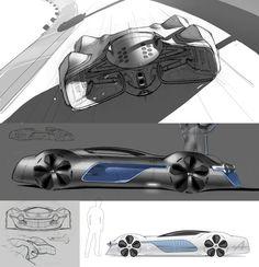 Alpine Vision Gran Turismo Concept Design Sketch by Joe Reeve