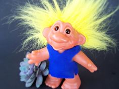 Hey, I found this really awesome Etsy listing at https://www.etsy.com/listing/178705240/vintage-toy1986-dam-troll-5-inch-yellow