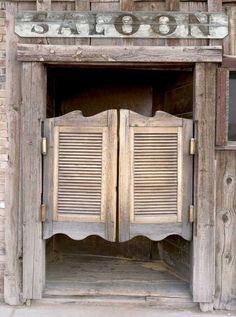 1079 Saloon Doors Printed Backdrop