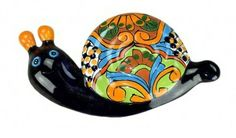 decorative talavera snail
