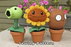 plants vs. zombies sewing patterns. um yes please?