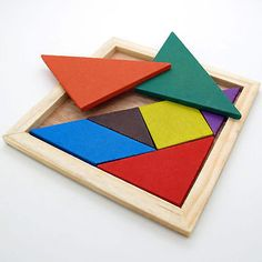 Quality Children Mental Development Tangram Wooden Jigsaw Puzzle Educational Toys For Kids Educational Toys For Kids, Learning Toys, Kids Toys, Tangram Puzzles, Wooden Jigsaw Puzzles, Puzzles Für Kinder, Puzzles For Kids, Brain Teaser Puzzles, Board For Kids