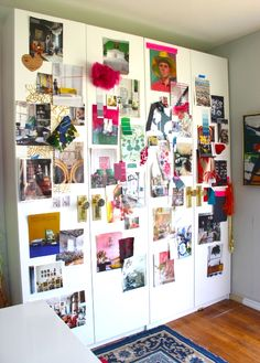 Ikea office Organization mood boards on front. Dope.