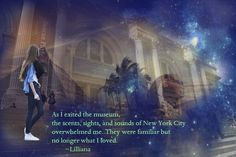 The usual photoshop blend technique, along with the two main cities in the book: New York and Egypt, as well as one of my favourite quotes near the ending.