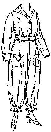 Past Patterns: #8767: Ladies' Bloomer Dress: Circa 1918