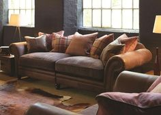 Alexander & James New Hudson Sofa Collection from George Tannahill & Sons Brown Sofa Decor, Leather Sofa Decor, Brown Leather Sofa Living Room, Leather Sofas, Living Room Lounge, Living Room Green, New Living Room, Hudson Sofa, English Living Rooms