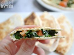 Spinach Tomato Quesadillas- Make sure to put Valentina