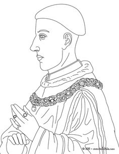 KING HENRY V Colouring Page
