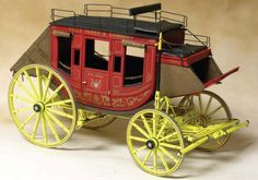 Concord Stagecoach Model (Wells Fargo, Butterfield Overland) Laser cut kit (scale 1:12)