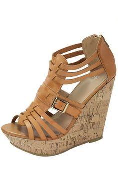 Adorable Tan Wedges #ShopMCE Kiki La Rue, Tan Wedges, Crazy Shoes, Wedge Heels, Clarks, Plus Size Outfits, Footwear, Pairs, Key West