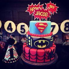 Jacob's first birthday .. Superhero theme