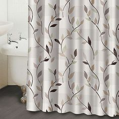 Famous Home Fashions Shadow Leaf Shower Curtain