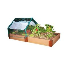 Frame It All RVG-REC2-GREP Composite Timber Raised Garden with Soft-sided Greenhouse, 4-Foot by 8-Foot by 12-Inch by Frame It All. $259.99. Adjusts easily to a variety of heights,shapes and sizes. Greenhouse provides great frost protection. Access from both sides of greenhouse with large zippered windows. Provides a deeper topsoil layer for poor soil conditions. Made from recycled plastic. Simplicity itself. The PVC Greenhouse kit with a 4-foot by 8-foot Frame It All Raised Gar...