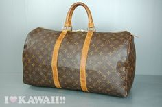 Authentic Louis Vuitton Monogram Keepall 50 Bag Boston Duffle Free Shipping! #LouisVuitton #BostonBag