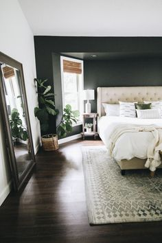 Three Ways to Easily Transform a Bedroom (Within the Grove) Master Room, Master Bedroom Design, Bedroom Inspo, Dream Bedroom, Home Decor Bedroom, Modern Bedroom, Bedroom Ideas, Dark Cozy Bedroom, Master Bedrooms