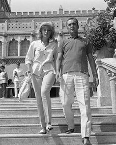 Monica Vitti and Michelangelo Antonioni - credit to: pinterest.com/gikarito