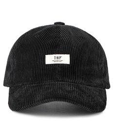 eea38cef0d850  tnp  tnp wh label corduroy ball cap - black