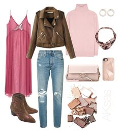 """""""Pinkfolk"""" by angelaksas on Polyvore featuring MANGO, Ash, Tomas Maier, Levi's, Chloé, Rebecca Minkoff and Stila"""