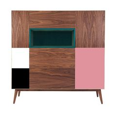 MONOQI   Let's Dance Cupboard - Wlnt/Pk