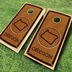 Ajj Cornhole State Stained Cornhole Set 4 Red/4 Yellow Bean Bags - 109-STATE STAIN OREGON RED/YELLOW