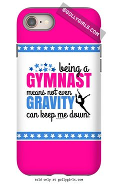 Golly Girls: Being a Gymnast iPhone Case only at gollygirls.com