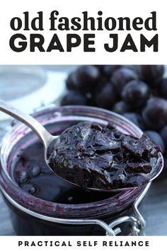 Fun Baking Recipes, Jelly Recipes, Jam Recipes, Canning Recipes, Whole Food Recipes, Apple Jam, Homemade Grape Jelly, Chutney