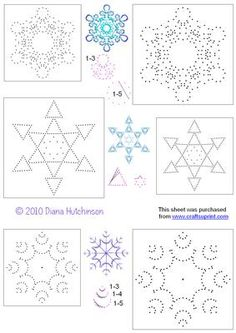 Snowflakes Set 5 on Craftsuprint designed by Diana Hutchinson - Three new snowflake patterns in two sizes each. - Now available for download!