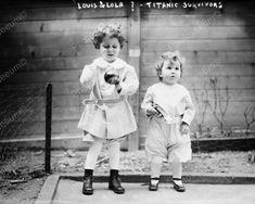 Tiny Titanic Survivors Michel Navaraiti & Brother 8x10 Reprint Of Old Photo