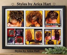 Hairstyles for women A variety of hair styles by Arica Hart