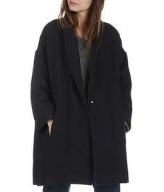 Manteau oversize en laine mélangée Lotus Bleu by BA & SH Fashion Mode, Warm Outfits, Couture Dresses, Style Mode, My Style, Casual Chic, Duster Coat, Fall Winter, Style Inspiration